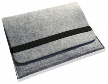 """Noratio universal Notebooktasche / Sleeve Deluxe Filz mit Innentasche für 15,6"""" Geräte - silber"""