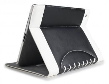 Noratio Smart Cover Football Style für Apple iPad Air - Schwarz-Weiß