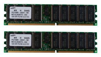 Computer Arbeitsspeicher DDR2 2x 1GB ECC Kit PC2-2100R - Samsung