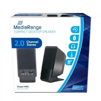 MediaRange Compact Desktop Speaker - Stereo Lautsprecher