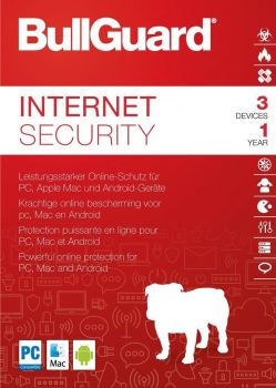BullGuard Internet Security 2019 / 2020 - 3 User / 1 Jahr PKC