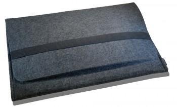 """Noratio Notebooktasche / Sleeve Deluxe Filz mit Innentaschen für 15,4"""" Laptops - anthrazit"""