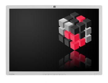 HP LP2065 - 20,1 Zoll TFT Flachbildschirm Monitor - Schwarz/Silber - Ohne Standfuß