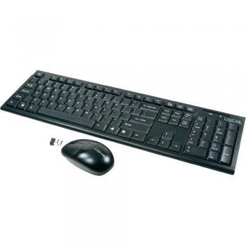 LogiLink - Funk Maus und Tastatur Set - Schwarz