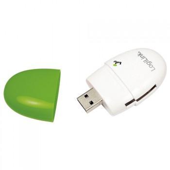 LogiLink Smile - USB 2.0 Kartenleser - MS - SD - SDHC - MMC - Micro SD - Green