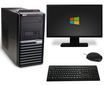 Acer Veriton M4610G Tower PC Computer Bundle - Intel Core i3-2120 2x 3,3GHz DVD-Brenner