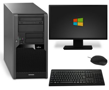 Fujitsu Esprimo P5731 Tower PC Computer Bundle - Intel Pentium Dual Core-E5500 2x 2,8 GHz