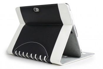 Noratio Smart Cover - Football Style für Galaxy Note 10.1 8000/8010/8020 - schwarz