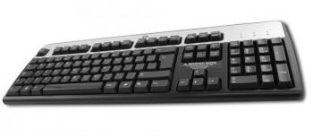 HP KU-0316 USB PC Tastatur - USB 2.0 - Schwarz / Silber - Englisch - QWERTY