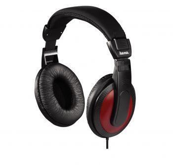 Hama Basic4Music HK5618 Over-Ear Kopfhörer - Rot / Schwarz