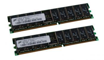 Computer Arbeitsspeicher DDR2 2x 1GB ECC Kit PC2-2100R - Micron