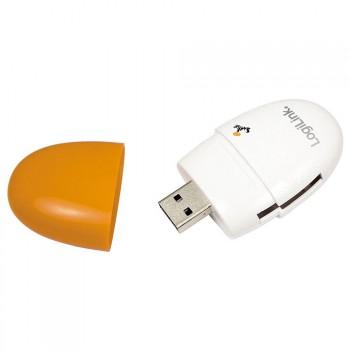 LogiLink Smile - USB 2.0 Kartenleser - MS - SD - SDHC - MMC - Micro SD - Orange