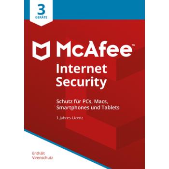 McAfee Internet Security 2018 3 Geräte / 12 Monate - ESD