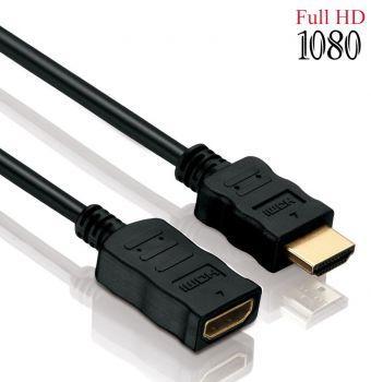 HDMI zu HDMI Verlängerungskabel - Typ A zu A - 3 Meter - Vergoldet