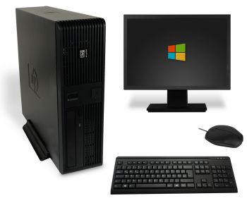 HP Business rp5700 SFF PC Computer Bundle - Intel Dual Core E-2160 2x 1,8 GHz DVD-Brenner