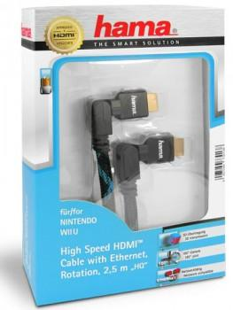 Hama High Speed HDMI zu HDMI Kabel - Typ A zu A - 2,5 Meter - Vergoldet