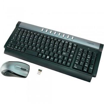 LogiLink - Funk Maus und Tastatur Set - Grau / Schwarz