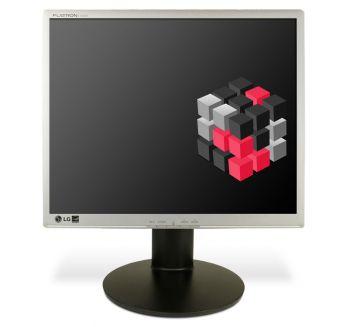 LG 1942PE - 19 Zoll TFT-LCD Flachbildschirm Monitor - Silber/Schwarz