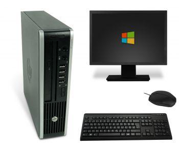 HP Elite 8000 USDT PC Computer Bundle - Intel Core 2 Duo-E8500 2x 3,16 GHz DVD-Brenner
