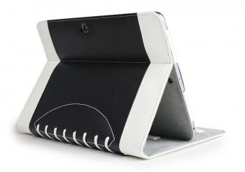 Noratio Smart Cover - Football Style für Galaxy Tab 3 / 4 - 10.1 - Schwarz
