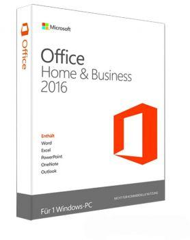 Microsoft Office Home and Business 2016 - Produkt Key Card