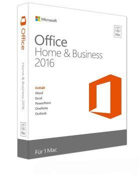 Microsoft Office Home and Business 2016 für Mac - Product Key Card