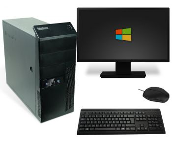 Lenovo ThinkCentre M83 Tower PC Computer Bundle - Intel Core i5-4670T bis 4x 3,3 GHz