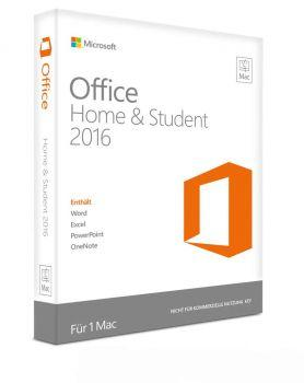 Microsoft Office Home and Student 2016 für Mac - Product Key Card