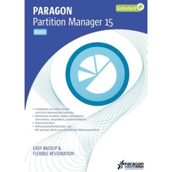 Paragon Partition Manager 15 Home - ESD