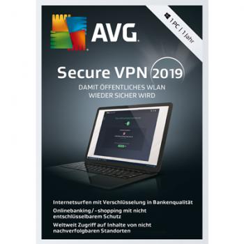 AVG SecureVPN 2019 - 1 PC / 1 Jahr - ESD