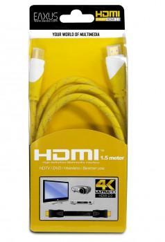Eaxus 4K HDMI 2.0 Kabel 1,5 Meter - Gelb